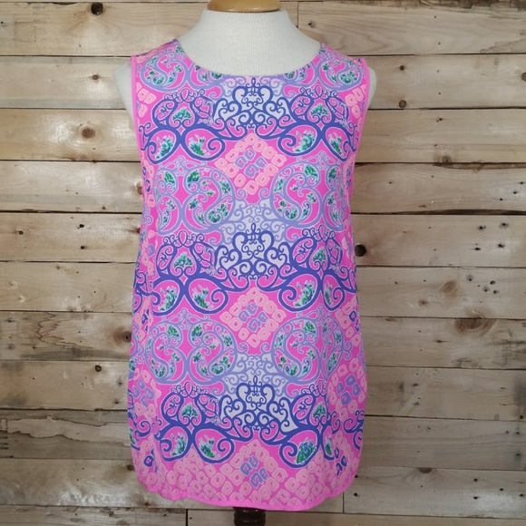 f5d4dc8a70e0fe Lilly Pulitzer Tops - Lilly Pulitzer Iona Shell Multi Behind the Gates